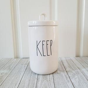 Rae Dunn KEEP Canister Container Jar
